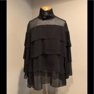 BLVD - sheer black layer top